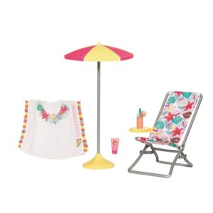 BABY BORN HOLIDAY DECKCHAIR SET 43CM