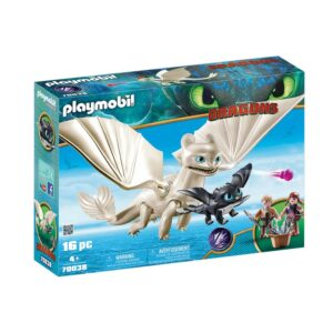 PLAYMO-LIGHT FURY AND BABY DRAGON WITH K