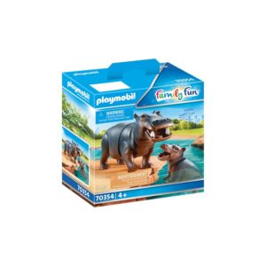 PLAYMO-HIPPO WITH CALF