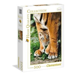 500 pcs. High Quality Collection BENGAL TIGER CUB BETWEEN ITS MOTHER'S LEGS