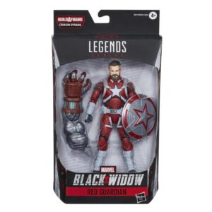 Marvel Legends Series 6 Inch Black Widow Build-A-Figure (Crimson Dynamo) Red Guardian