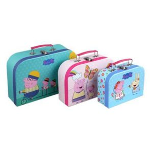 PEPPA PIG SUITCASES 3 PCSSET ASSORTED